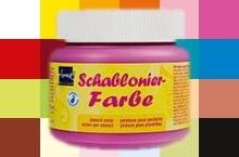 Schablonierfarben