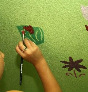 Blumen Im Kinderzimmer An Der Wand