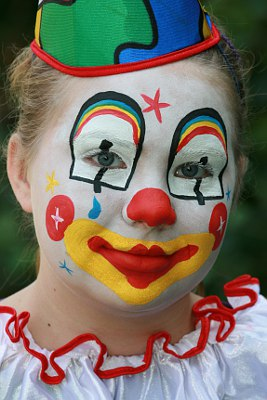 Kinderschminken Clown Vorlage