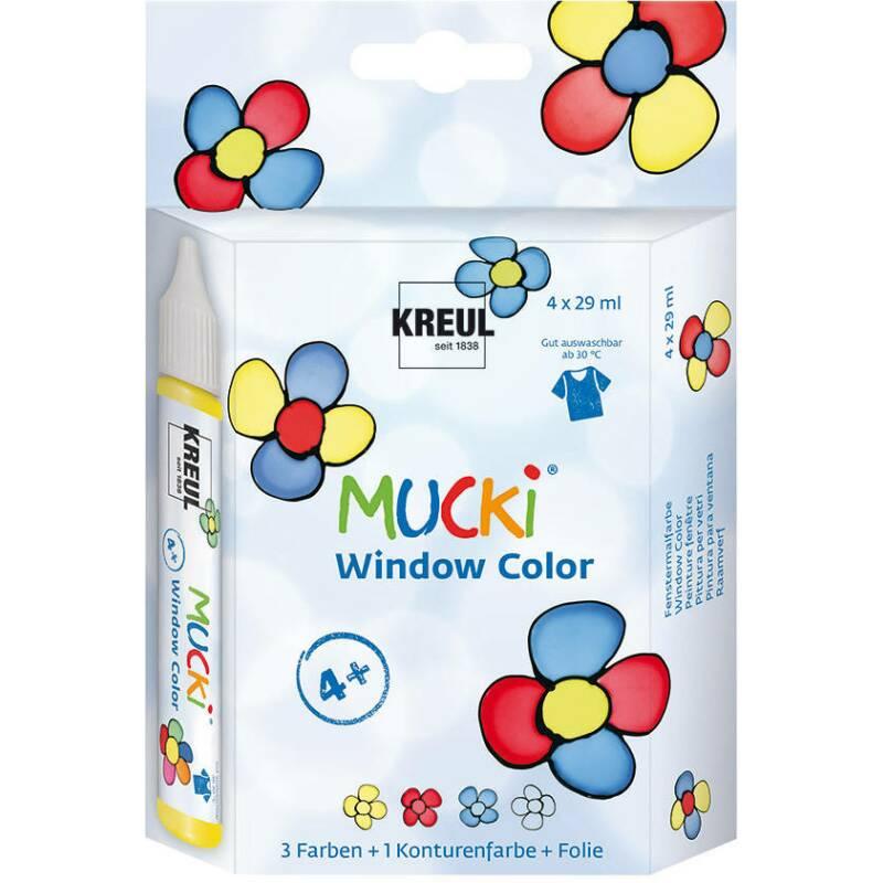 mucki window color 4er set 4 x 29ml window color im pen. Black Bedroom Furniture Sets. Home Design Ideas