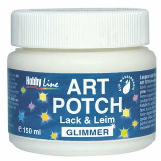 Serviettenkleber Art Potch Lack&Leim, Glimmer
