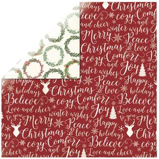Scrapbookingpapier Christmas Cheer, 30,5 x 30,5 cm, 190 g/m²