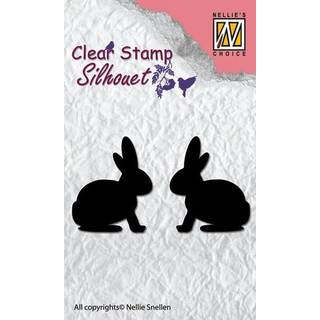 Clear Stamps, Hasen-Silhouette, 2 - teilig