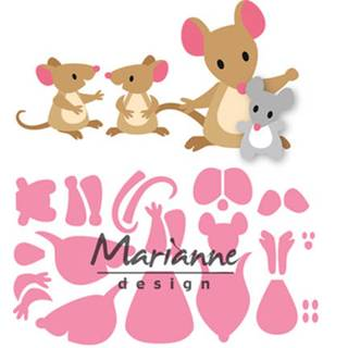 Marianne Design Elines mice family, Maus-Familie