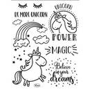 Clear Stamps, Einhorn-Unicorn Power, 10 - teilig