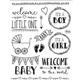 Clear Stamps, Hello Baby, 17 - teilig