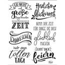 Clear Stamps, Lettering Deutsch, 6 - teilig
