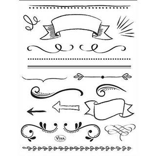 Clear Stamps, Lettering Elemente, 17 - teilig