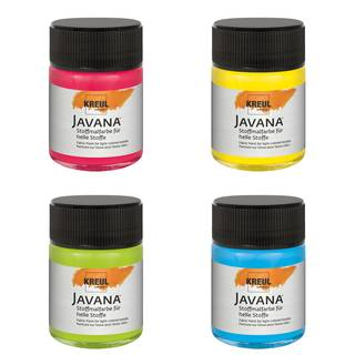 Neon Stoffmalfarben-Set Basic, 4 x 50ml
