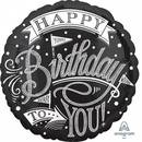 Folienballon Happy Birthday Handlettering Standard Rund,...