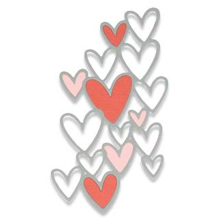 Sizzix Thinlits Schablone, Scattered Hearts