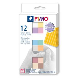 Fimo soft Materialpackung 12er Pastel Colours, Pastellfarben