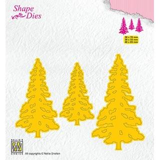 Nellies Shape Dies, 3 Pinetrees, 3 Kiefern
