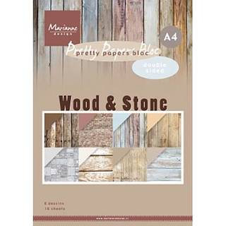 Pretty Papers Blocks Wood & Stone, Holz & Stein