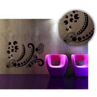 ornamente wandschablonen xxl. Black Bedroom Furniture Sets. Home Design Ideas