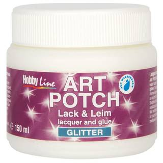 Serviettenkleber Art Potch Lack&Leim, Glitter, Gold, 150 ml