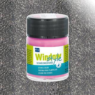 Window-Style Glasmalfarbe, Glitter Anthrazit 50 ml
