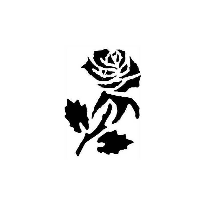 tattoo schablone rose von fantasy make up mit gro er rosenbl te. Black Bedroom Furniture Sets. Home Design Ideas