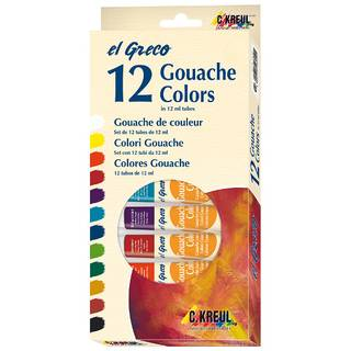 el Greco Gouache Colors 12er Set