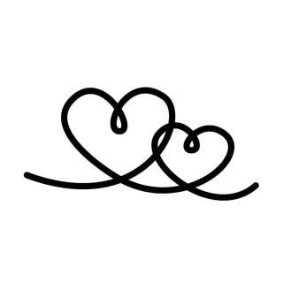 Stempel Mit Zwei Geschwungenen Verschlungenen Herzen Für Alle