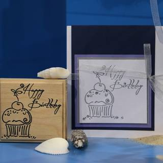 Stempel - Happy Birthday Muffin