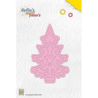 Nellies Multi Frame Dies, christmas tree-2