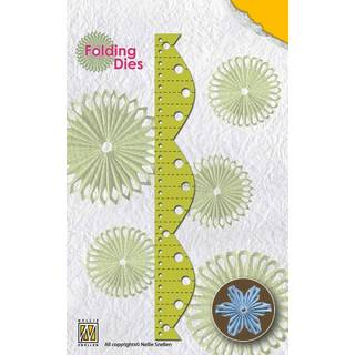 Nellies Rosette Folding Die, flower 4
