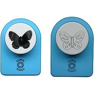 Nellies Floral punches, small set, butterfly 1