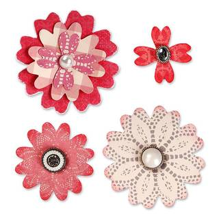 Sizzix Bigz, Flower Layers with Heart Petals