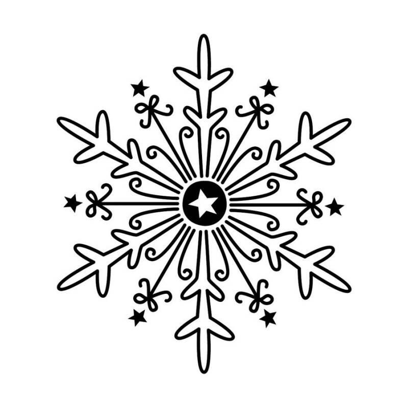 eiskristall als holzstempel f r gl ckwunschkarten und weihnachtliche gr e im winter. Black Bedroom Furniture Sets. Home Design Ideas