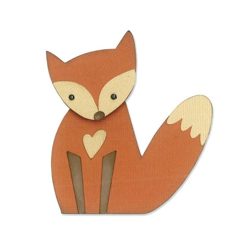 sizzix thinlits 659907 fox s er sitzender fuchs f r tolle basteleien aus papier. Black Bedroom Furniture Sets. Home Design Ideas