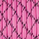 Paracord, Farbmix, 4 mm x 50 m, pink schwarz