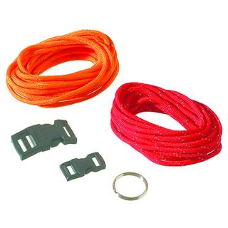 Paracord Set, reflektierend, 4 mm x 2,6 m, 5-teilig, orange rot