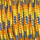 Paracord, Farbmix, 2 mm x 5 m, orange blau hellgrün