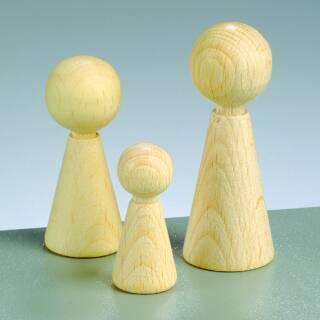Figurenkegel mit hals buche 23 x h 60 mm 3 stk gebleicht for Buche gebleicht