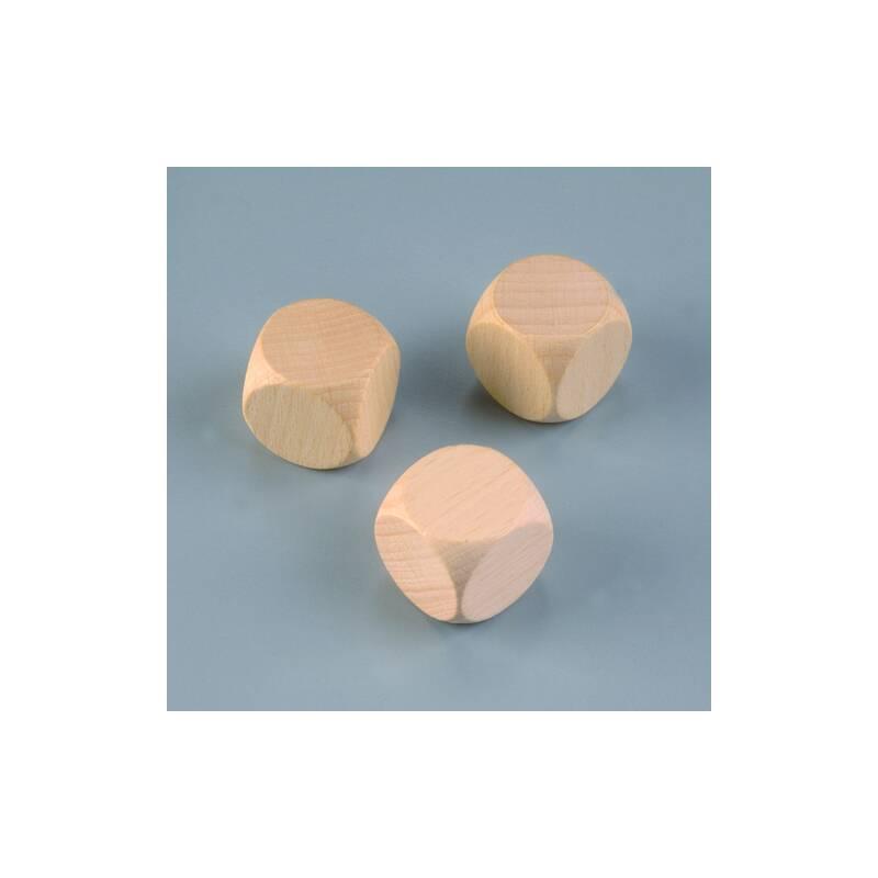 Holzw rfel buche 25 mm 3 stk gebleicht for Buche gebleicht
