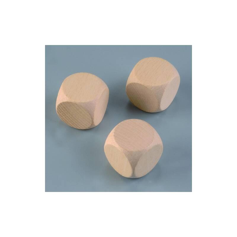 Holzw rfel buche 30 mm 3 stk gebleicht for Buche gebleicht