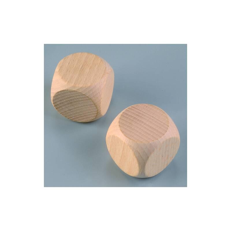 Holzw rfel buche 40 mm 2 stk gebleicht for Buche gebleicht