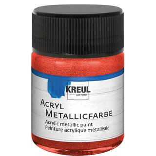 Acryl-Metallicfarbe Rot, 50ml