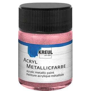 Acryl-Metallicfarbe Rosa, 50ml
