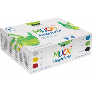 MUCKI Fingerfarben 6er Set, 150 ml