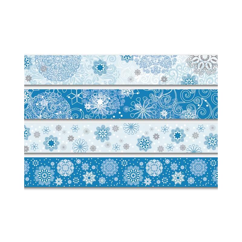 Papier deko tape kristalle 4er for Deko rostfarbe