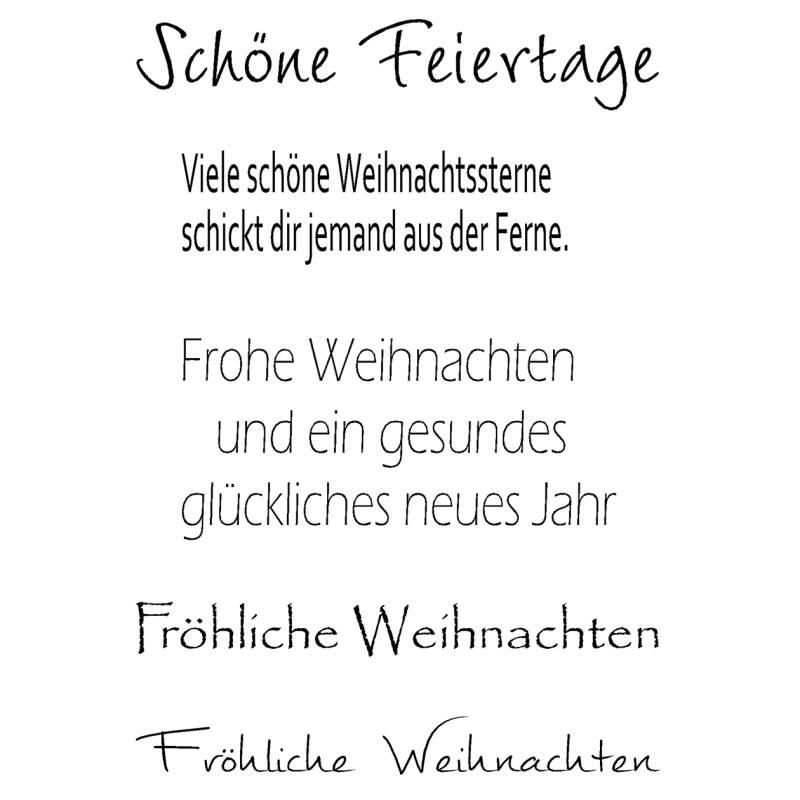 clear stamps stempelset mit deutschen weihnachtsgr en 5. Black Bedroom Furniture Sets. Home Design Ideas