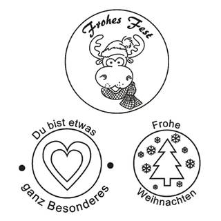 Clear Stamps, Frohes Fest, 3 - teilig