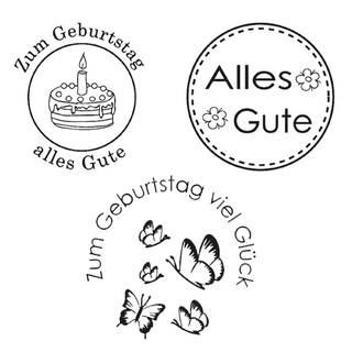 Clear Stamps, Alles Gute, 3 - teilig