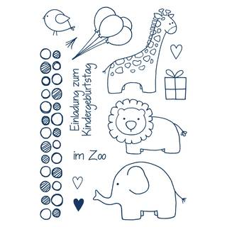 Clear Stamps, Zoo kindlich, 13 - teilig