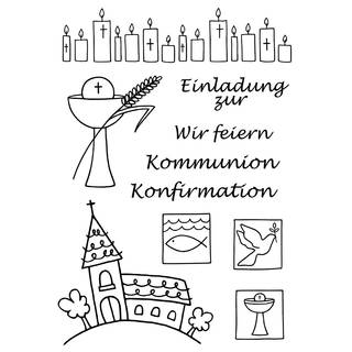 Clear Stamps, Kommunion / Konfirmation, 10 - teilig