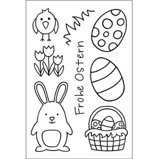 Clear Stamps, Frohe Ostern 1, 8 - teilig