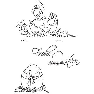 Clear Stamps, Frohe Ostern 2, 3 - teilig