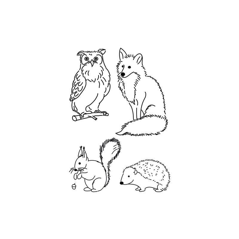 4 Radiergummis Fuchs /& Eule